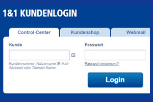 login zum  control center  kundenlogin