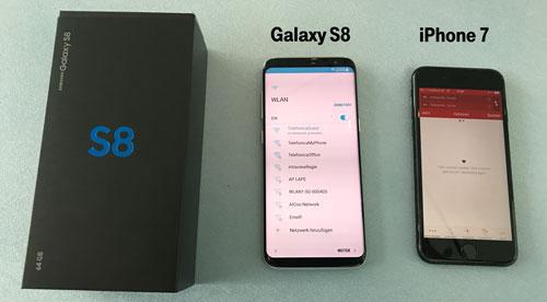 Vergleich Samsung Galaxy S8 mit Apple iPhone 7