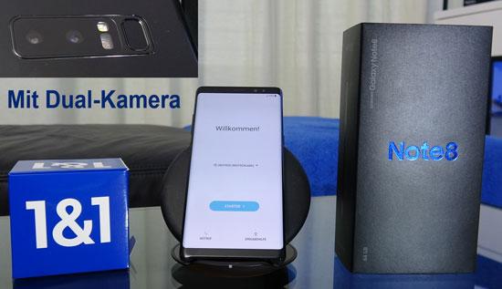 Samsung Galaxy Note 8 - Smartphone günstig mit 1&1 All-Net-Flat Tarif
