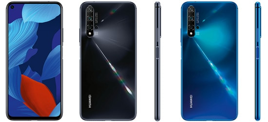 Huawei nova 5T mit 1&1 Vertrag – Bundle